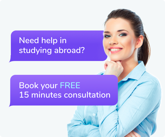 Need help in studying abroad? Book your FREE 15 minutes consultation
